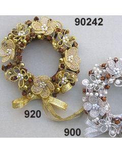 Perlen-Bouillonblüten Kranz  / 90242