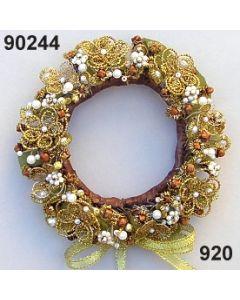 Bouillonblüten-Kranz mittel / gold / 90244.920