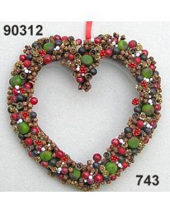 Gewürz-Beeren Herz groß / grün-rot / 90312.743