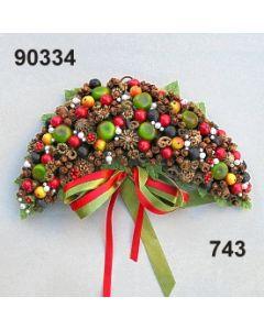 Gewürz Beeren Bogen klein mit Masche / grün-rot / 90334.743