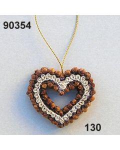 Nelken-Herz klein Borte / natur / 90354.130
