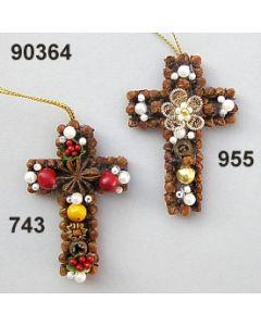Gewürzornament Kreuz klein  / 90364