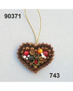 Gewürzornament Herz klein / grün-rot / 90371.743
