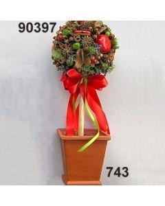 Baum Früchte /grün-rot / 90397.743