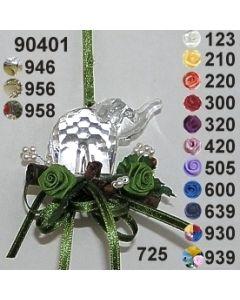 Acryl-Elefant dekoriert  / 90401