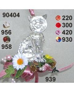 Acryl-Katze dekoriert  / 90404