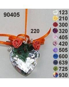 Acryl-Herz dekoriert  / 90405