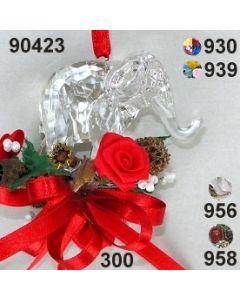 Acryl-Elefant groß dekoriert  / 90423