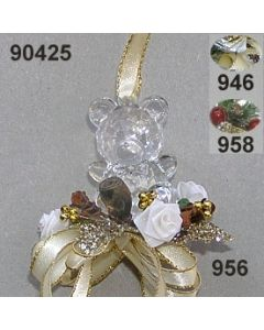 Acryl-Teddy Weihnachtlich  / 90425