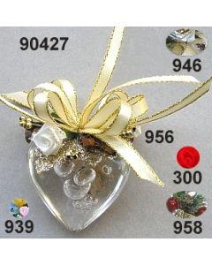 Acryl-Herz Blasen dekoriert  / 90427