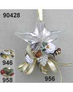 Acryl-Stern Weihnachtlich  / 90428