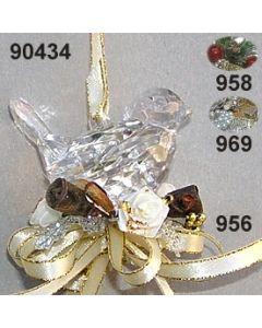 Acryl-Vogel Weihnachtlich  / 90434