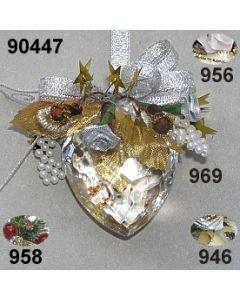 Acryl-Herz Weihnachtlich  / 90447
