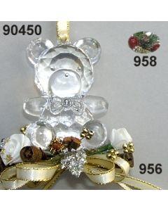 Acryl-Teddy groß Weihnachtlich  / 90450