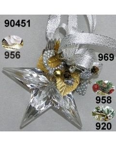 Acryl-Stern groß Weihnachtlich  / 90451