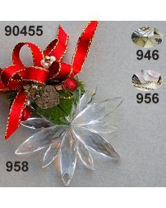 Acryl-Schneeflocke klein Weihnachtlich  / 90455