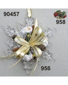 Acryl-Schneeflocke Weinachtlich  / 90457