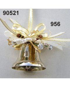 Silber-Glocke dekoriert / gold-creme / 90521.956