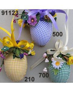 Osterei Karostoff dekoriert  / 91123