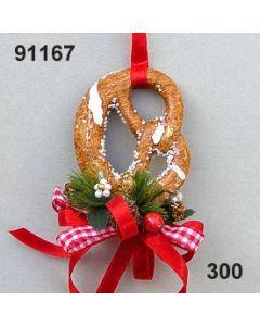 Brezel dekoriert / rot / 91167.300