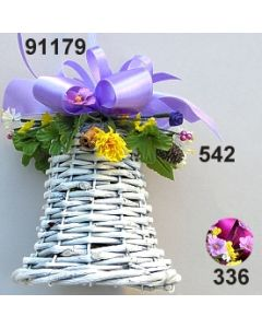 Glocke weiß Frühling klein dekoriert / 91179