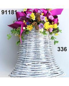 Glocke weiß Frühling groß dekoriert / brombeer / 91181.336