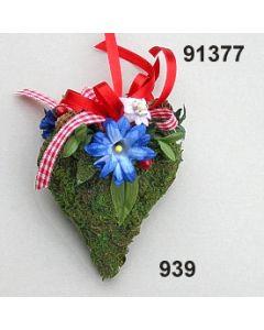 Moosherz Alpen-Blume klein / bunt / 91377.939