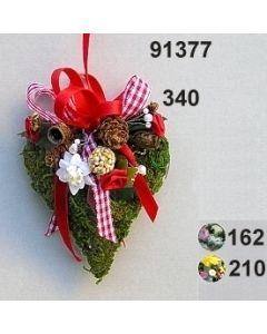 Moosherz dekoriert klein  / 91377