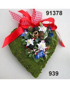 Moosherz Alpen-Blume groß / bunt / 91378.939