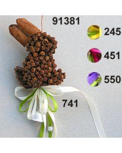 Nelken Hase bauchig dekoriert  / 91381