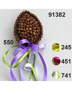 Nelken-Ei bauchig dekoriert  / 91382
