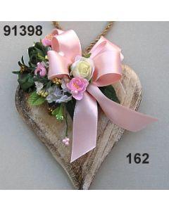 Holz-Herz groß Rosen dekoriert / champagner-rosa / 91398.162