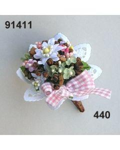 Edelweiss Strauß mini / rosa-weiß / 91411.440
