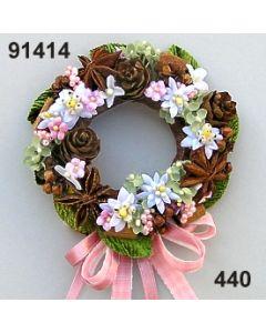 Edelweiss Kranz klein / rosa-weiß / 91414.440