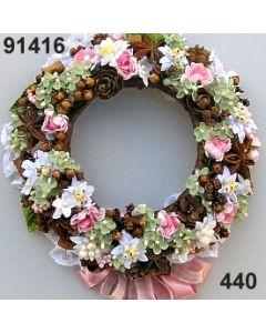 Edelweiss Kranz  / rosa-weiß / 91416.440