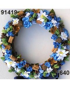 Edelweiss Kranz / blau-weiß / 91419.640