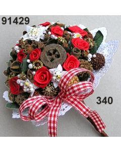 Edelweiss Bouquet groß / rot-weiß / 91429.340