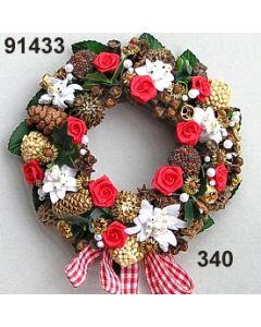 Edelweiss Kranz / rot-weiß / 91433.340