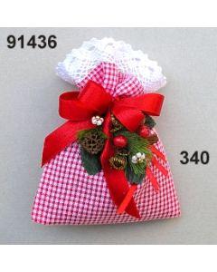 Lavendel-Karo Duftbeutel / rot-weiß / 91436.340