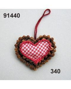 Nelken Karo Herz klein / rot-weiß / 91440.340