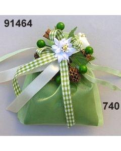 Edelweiß-Zimt Duftbeutel Lavendel / grün-weiß / 91464.740