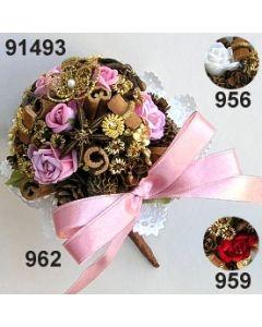 Samtrosen Bouquet gold  / 91493