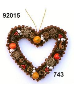 Gewürzornament Herz offen klein / grün-rot / 92015.743