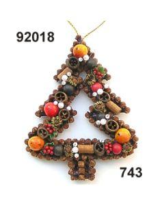 Gewürzornament Baum offen / grün-rot / 92018.743