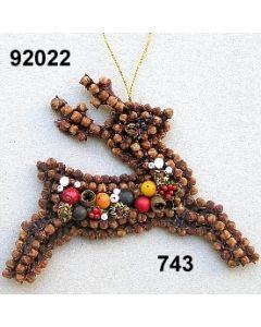 Gewürzornament Hirsch / grün-rot / 92022.743
