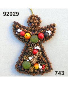 Gewürzornament Engel / grün-rot / 92029.743