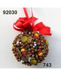 Gewürzkugel Beeren mit Masche / grün-rot / 92030.743