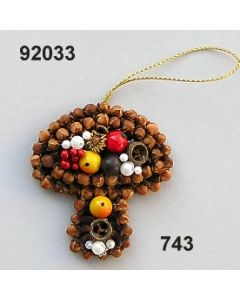 Gewürzornament Pilz / grün-rot / 92033.743