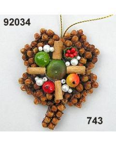 Gewürzornament Kleeblatt / grün-rot / 92034.743