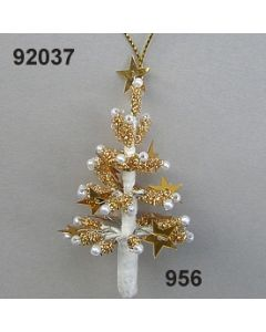Christbaum Perlen-Bouillon klein / gold-creme / 92037.956